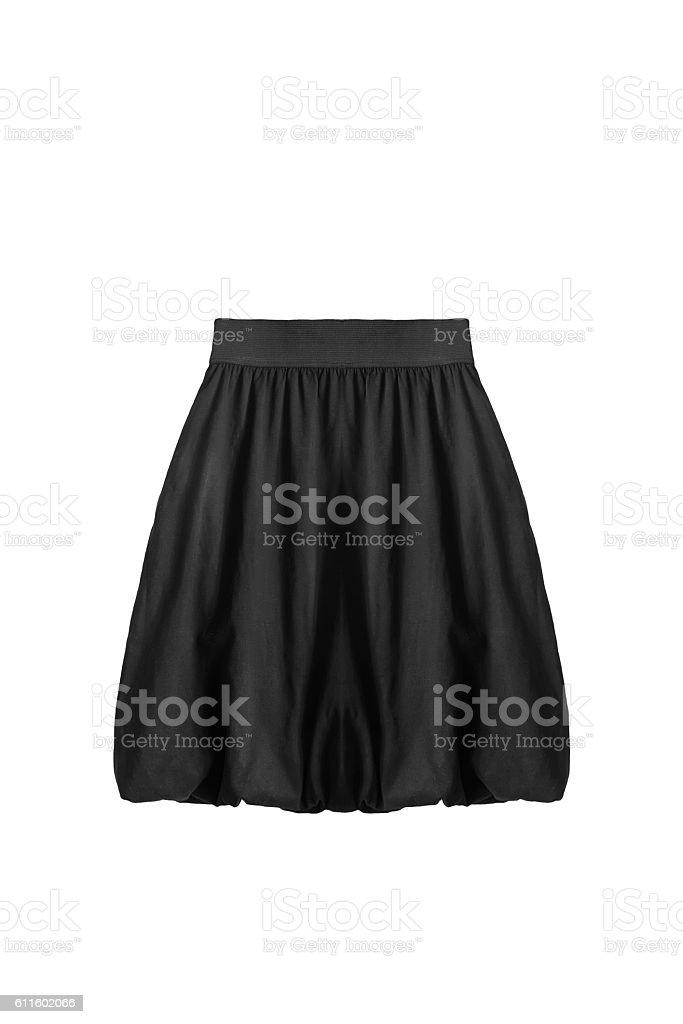 Black skirt isolated stock photo