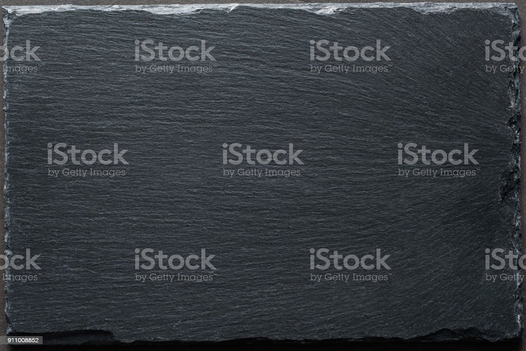 Black slate background top view stock photo