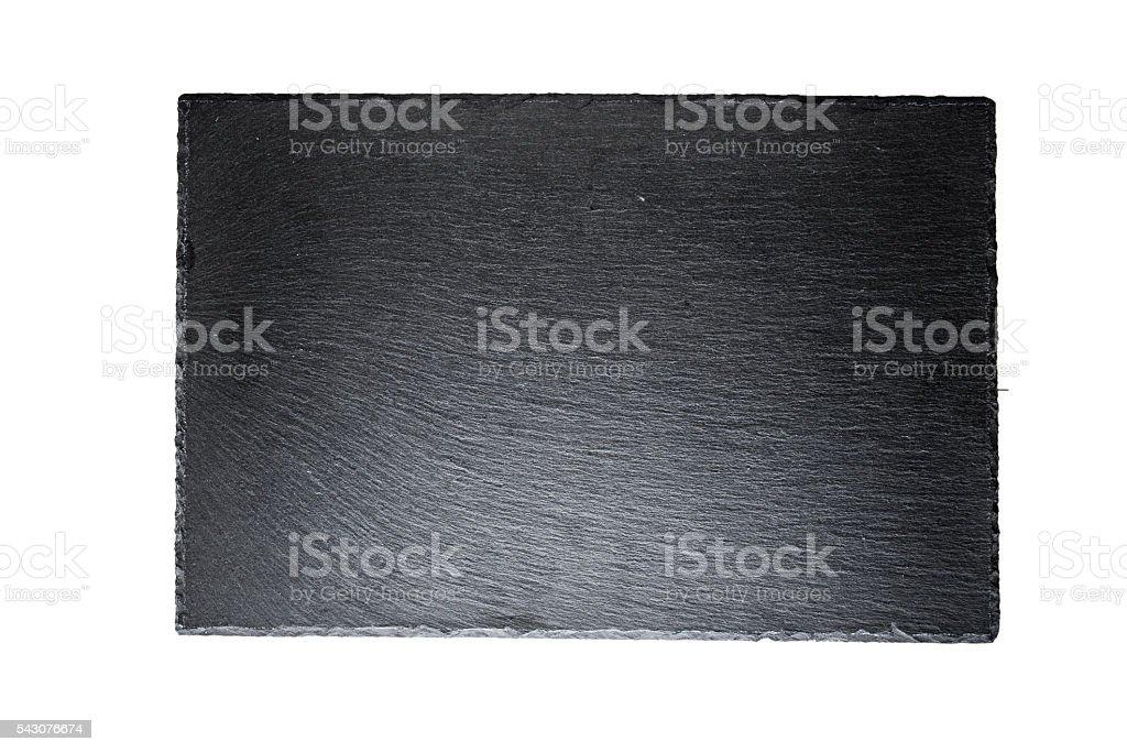 black slate board isolated stock photo