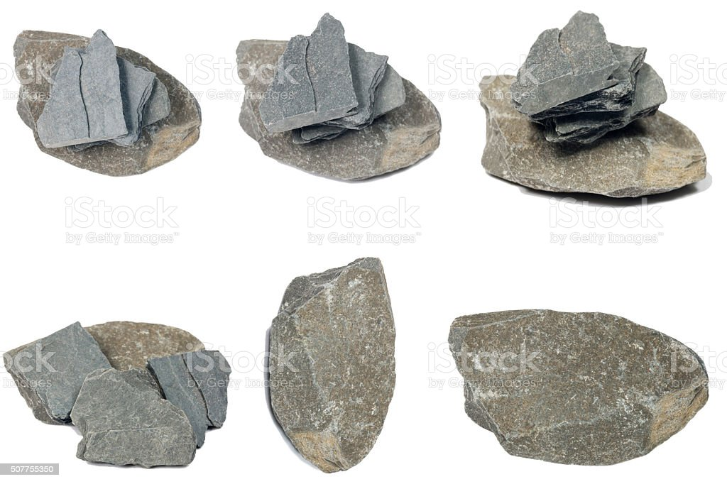 Black Slate Rock stock photo