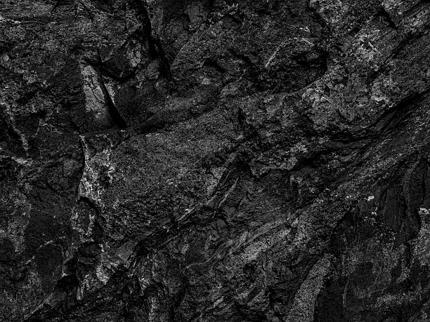 black slate stone texture - pierre photos et images de collection