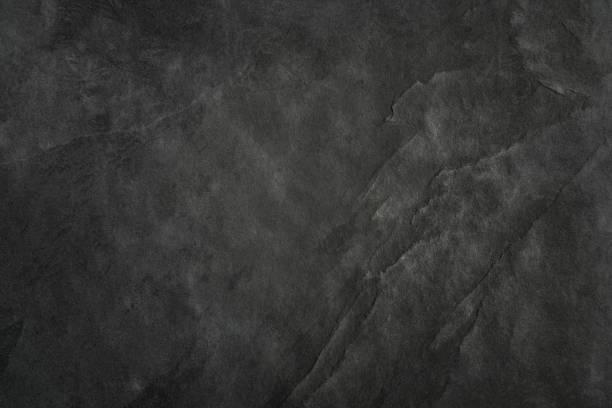 Schwarzer Schiefer Textur Hintergrundtextur Blackboard - Stein - Grunge – Foto