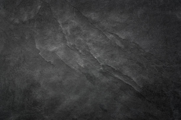 Black Slate Texture Background - Stone - Grunge Texture Dark grey black slate texture, floortile, wallpaper or background. Rough texture with fine details. marble rock stock pictures, royalty-free photos & images