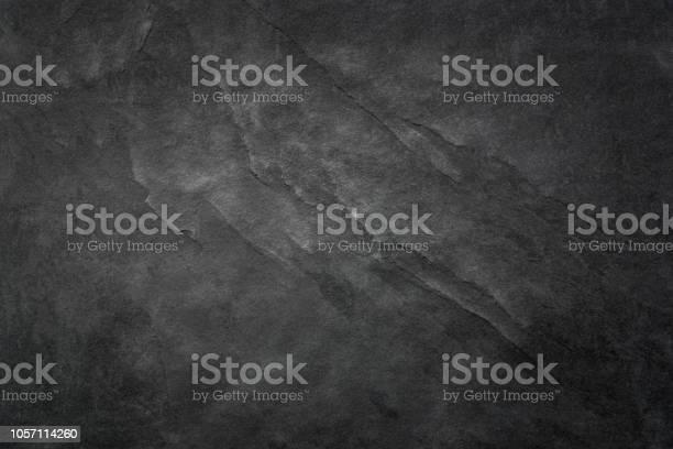 Photo of Black Slate Texture Background - Stone - Grunge Texture