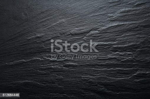 istock Black Slate Texture Background - Stone - Grunge Texture 512684446