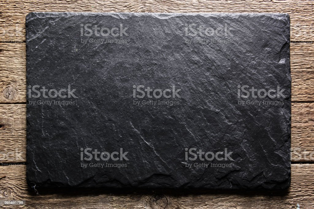 Black slate texture closeup stock photo
