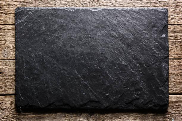 black slate texture closeup - mármore rocha imagens e fotografias de stock