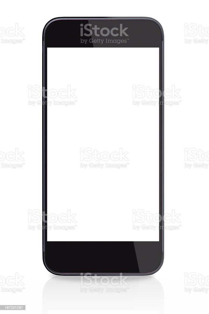 black smart phone royalty-free stock photo