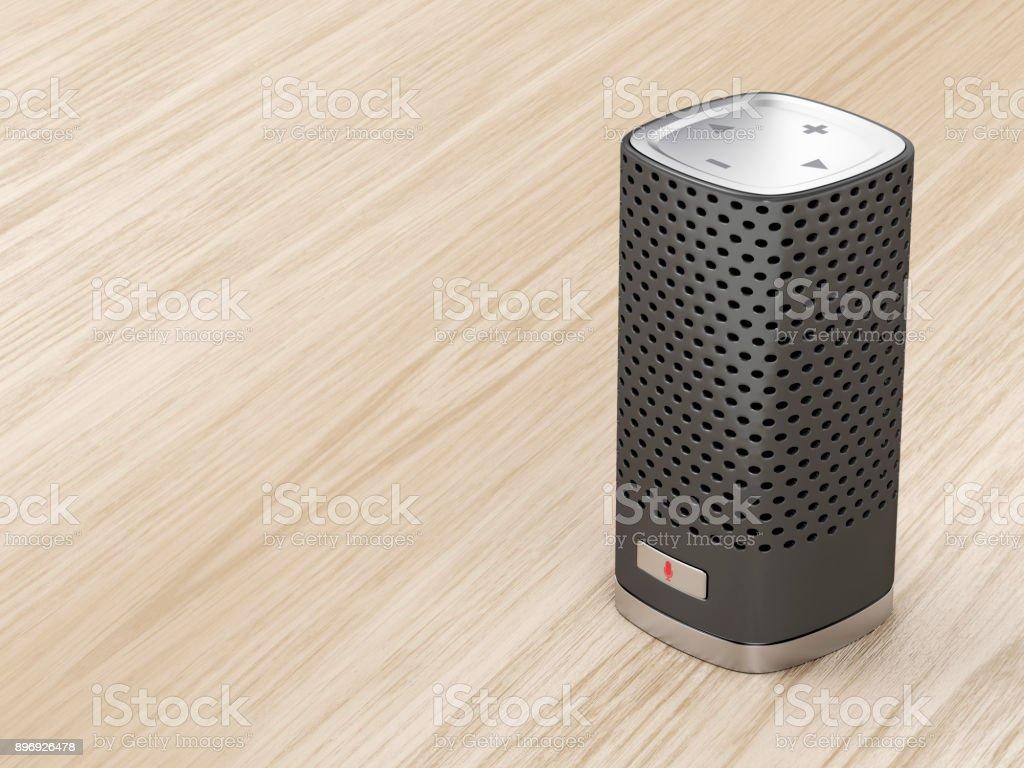 Alto-falante inteligente preto - foto de acervo