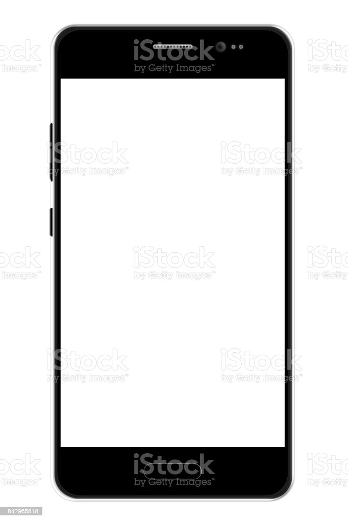 Black smartphone template. stock photo