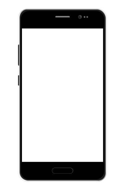 plantilla de negro smartphone. - teléfono inteligente fotografías e imágenes de stock