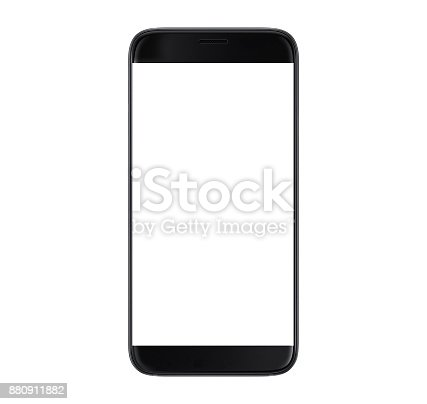 Black Smartphone with blank screen