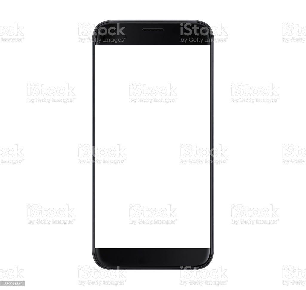 Black Smartphone with blank screen стоковое фото