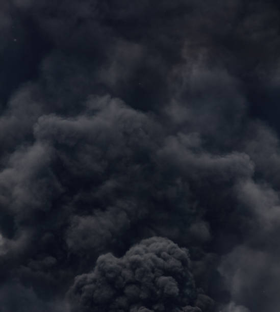 black smoke from a fire - thick stock pictures, royalty-free photos & images