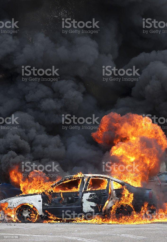 black smoke stock photo