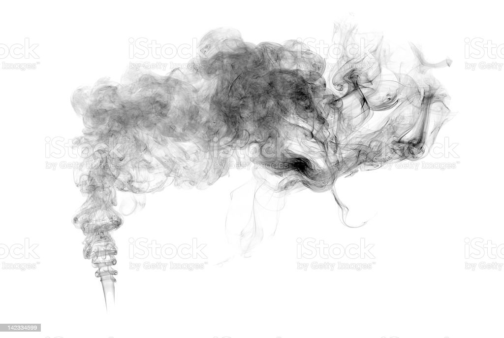 Black Smoke stock photo