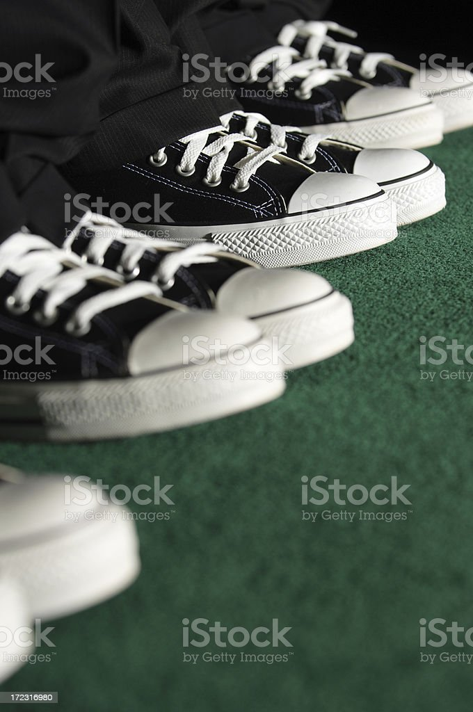 Black Sneakers royalty-free stock photo
