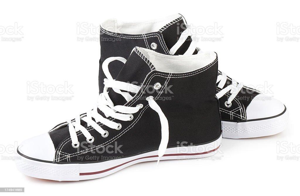 Black Sneakers royalty-free stock photo