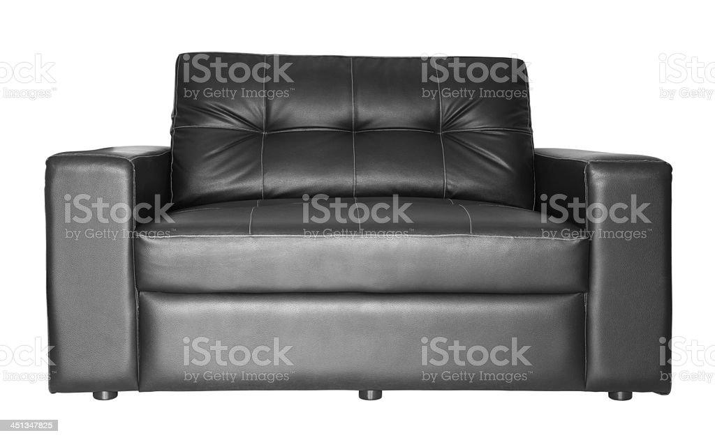 Black sofa isolated royalty-free stock photo