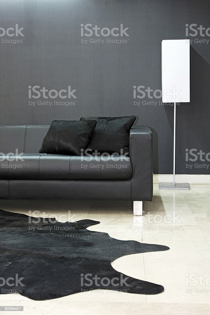 Black sofa part royalty-free stock photo