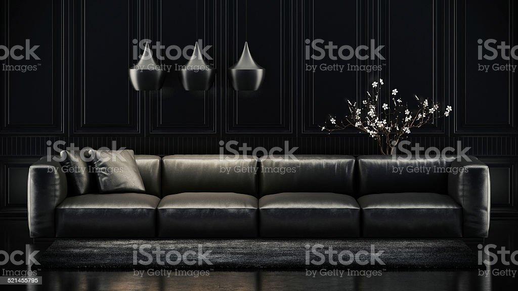 Black Sofa stock photo