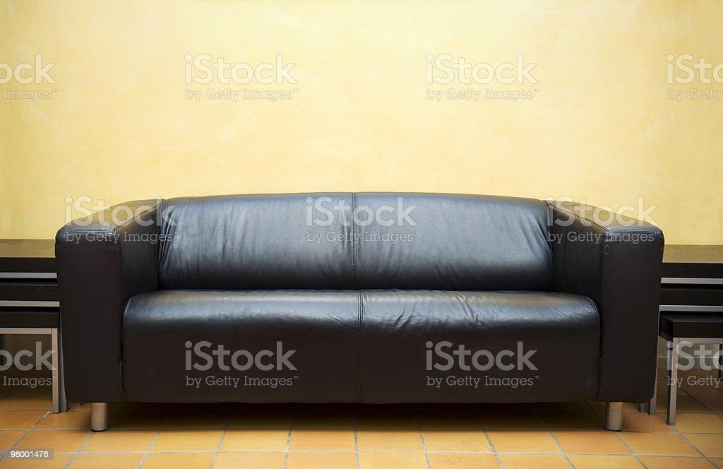 Black sofa royalty-free stock photo