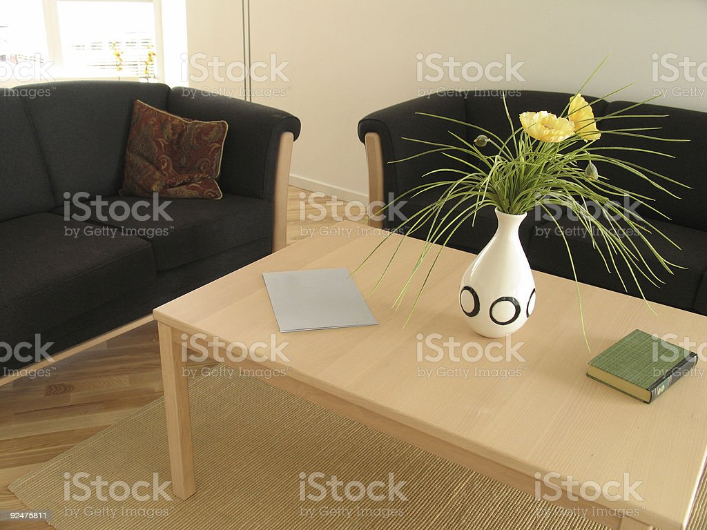 Black sofas royalty-free stock photo