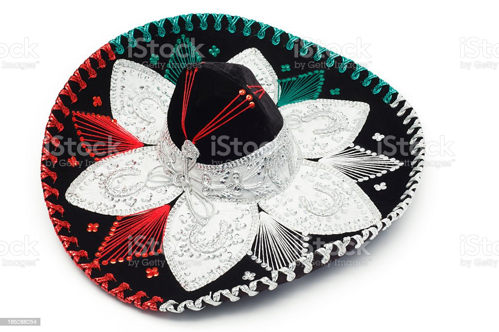 Black Sombrero stock photo