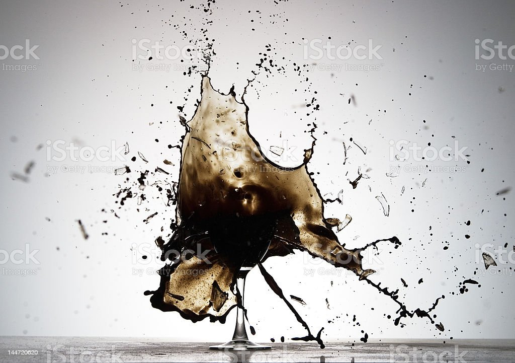 Black Spatter royalty-free stock photo