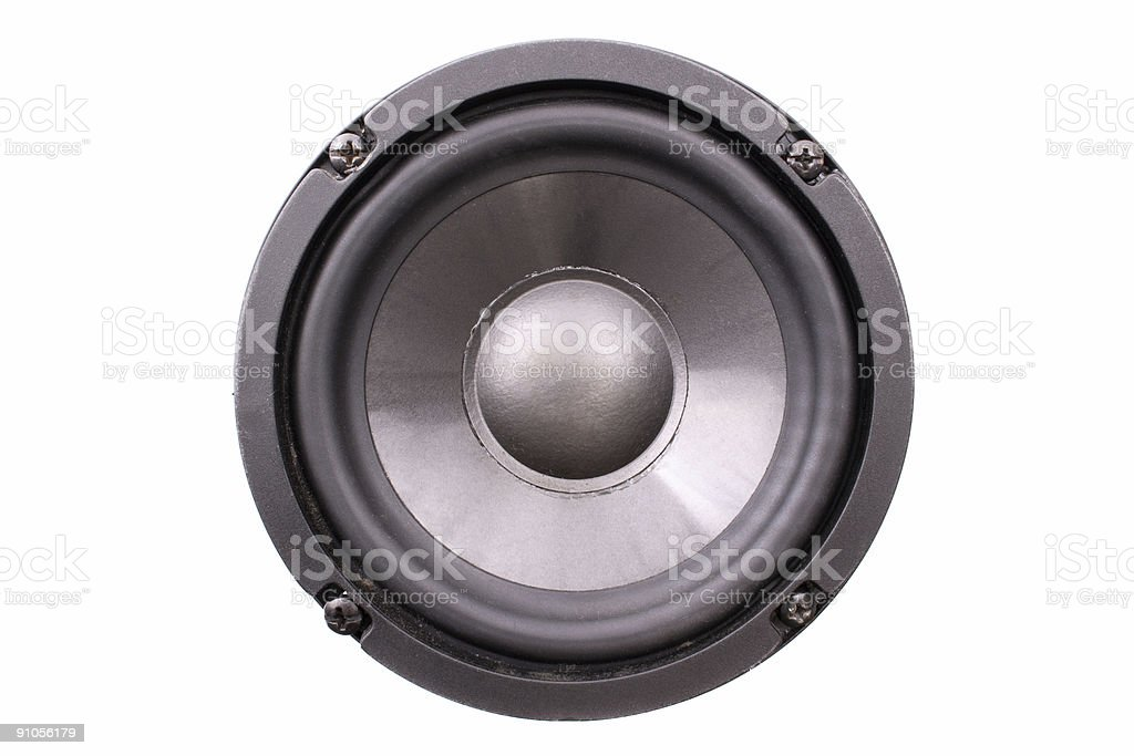 Black speaker front stock photo