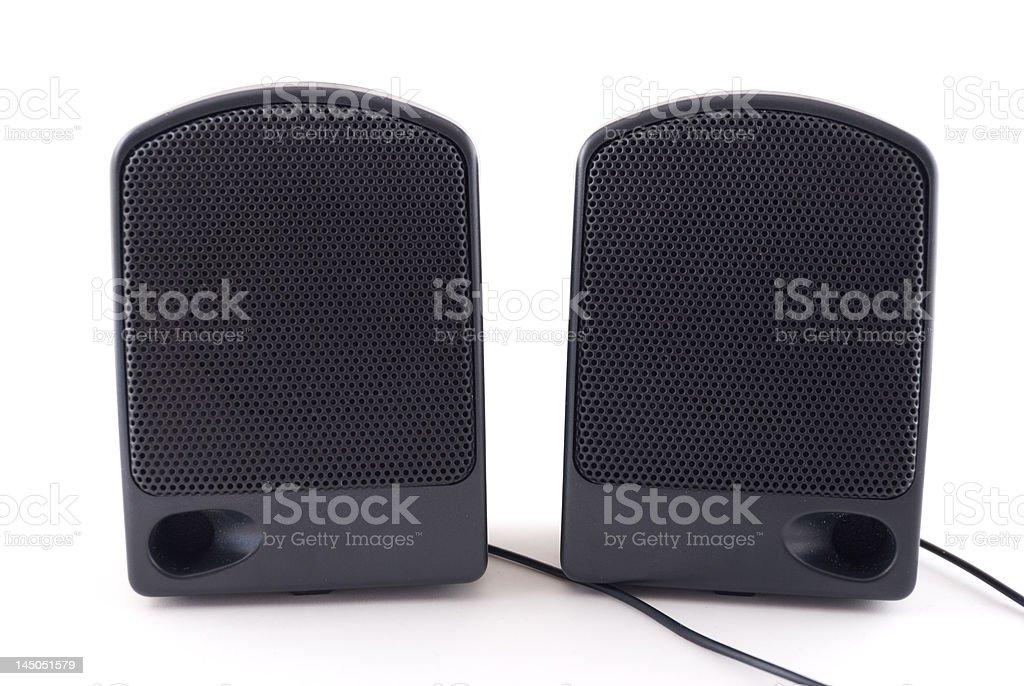 Black Speakers stock photo