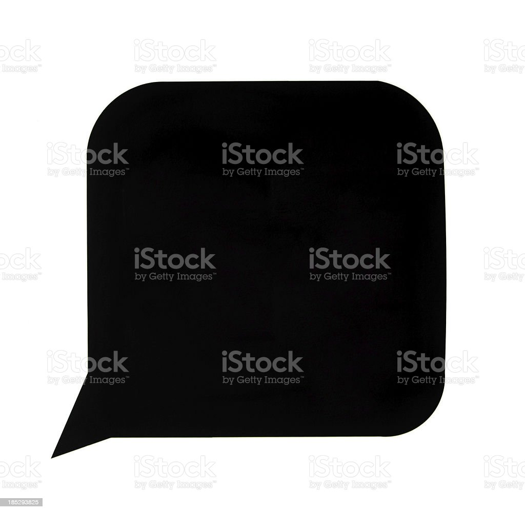 Black speech bubble royalty-free stock photo