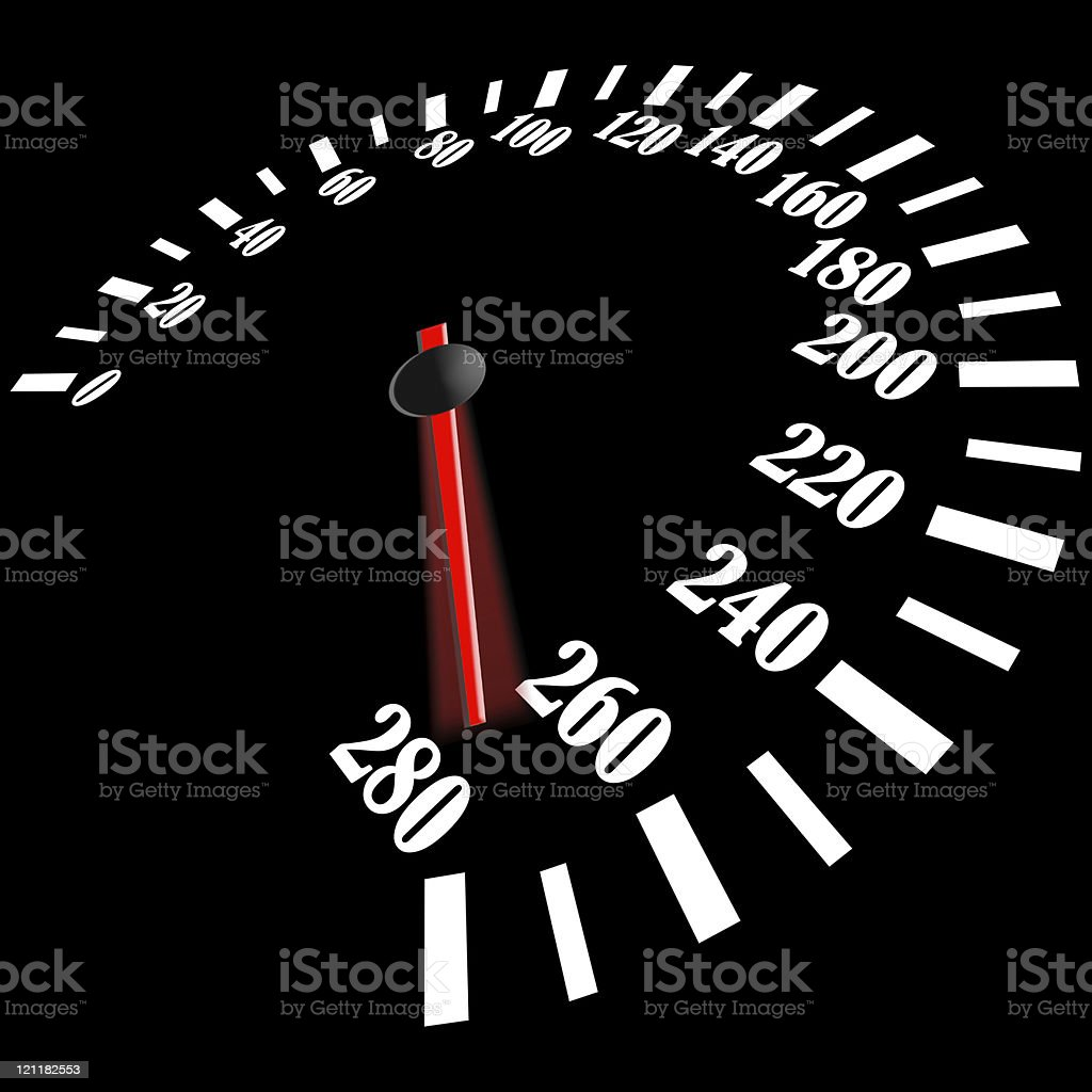 black speedometer royalty-free stock photo