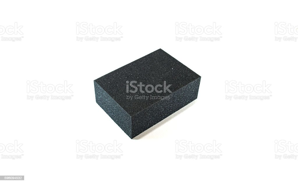 Black Sponge royalty-free stock photo