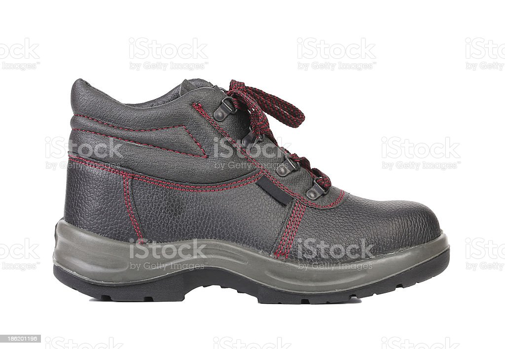 Black sport boot. royalty-free stock photo