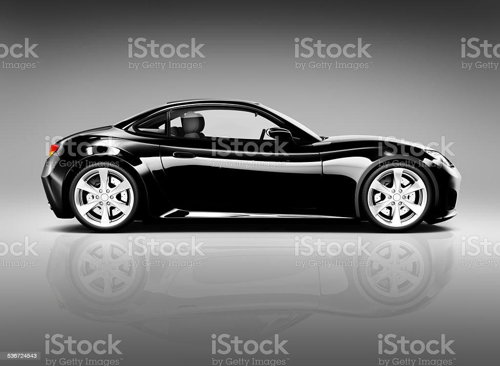 Black Sport Car stock photo