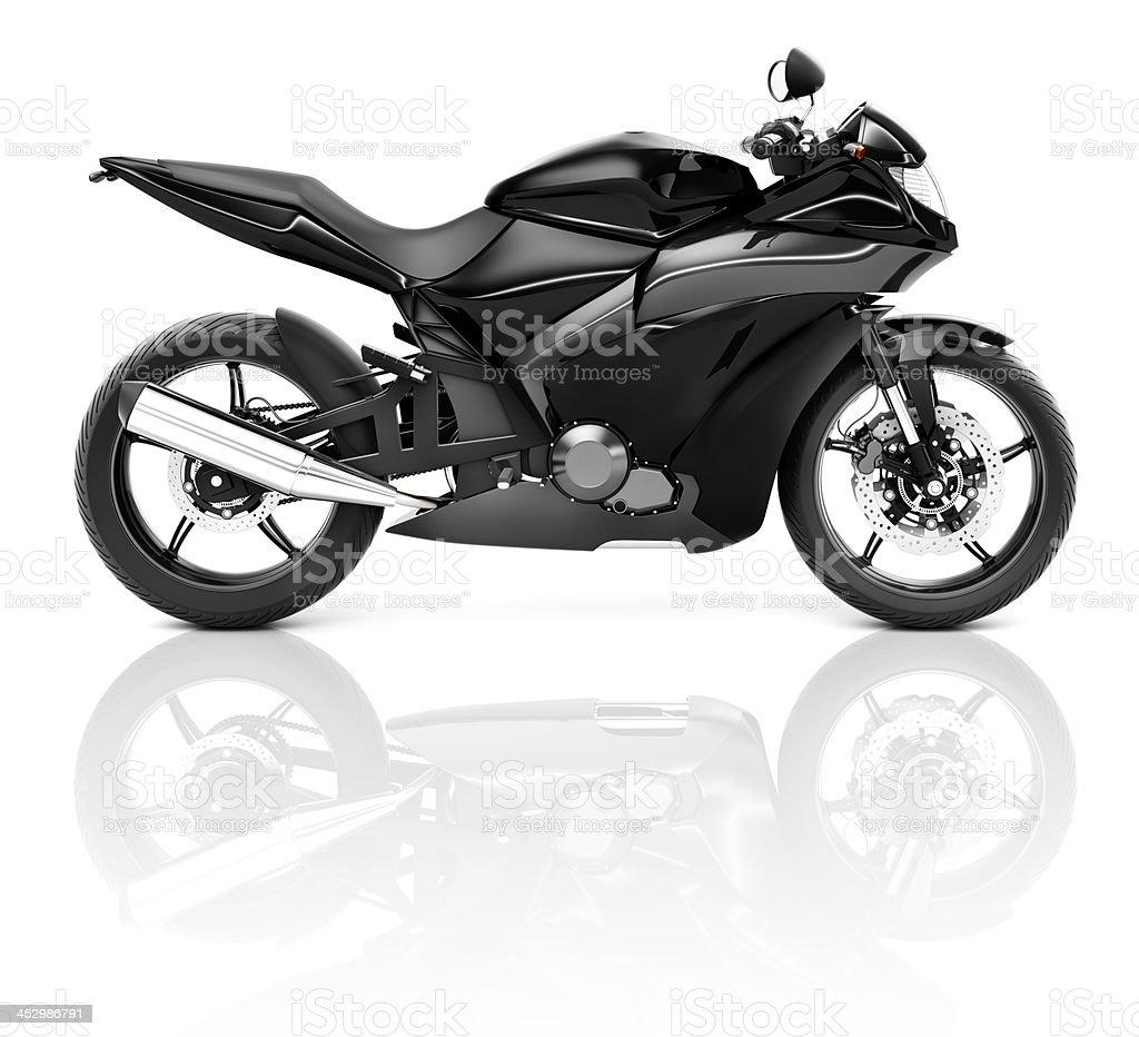 Schwarzer Sport Motorrad – Foto