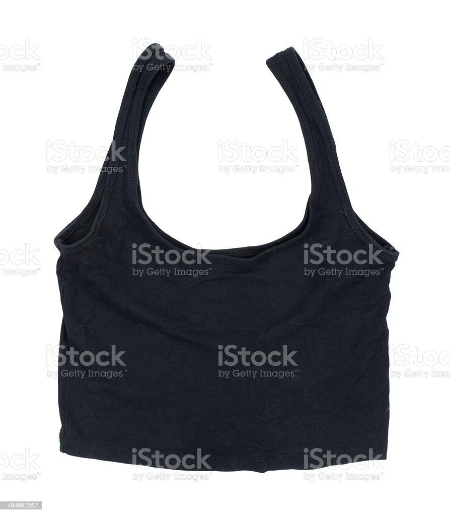 black sport shirt after a workout stock photo
