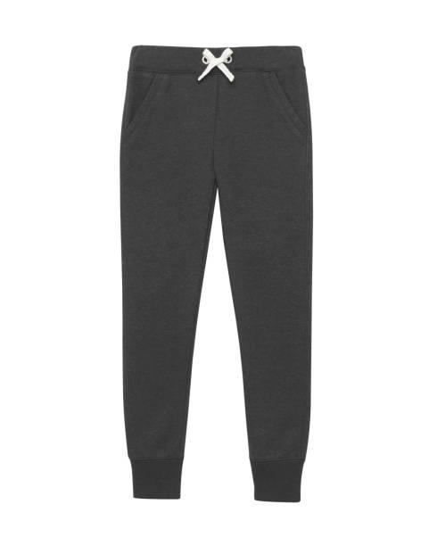 schwarz sport trainingshose isoliert weiß - sweatpants stock-fotos und bilder