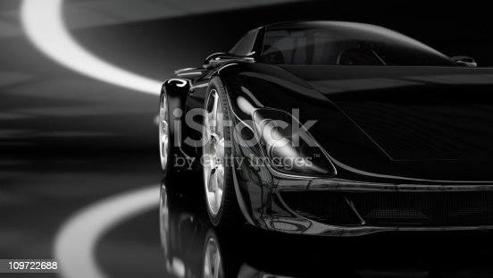 istock Black Sports Car 109722688