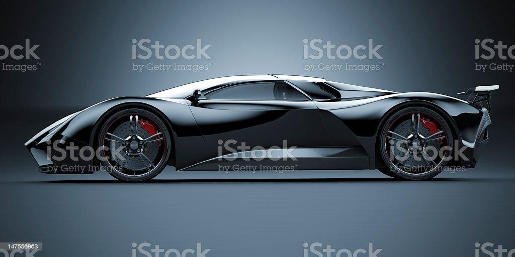 Black Sports Car stock photo