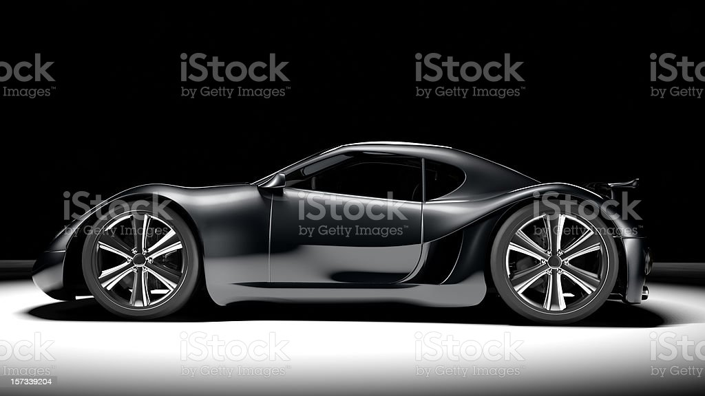 Black Sports Car royalty-free stock photo