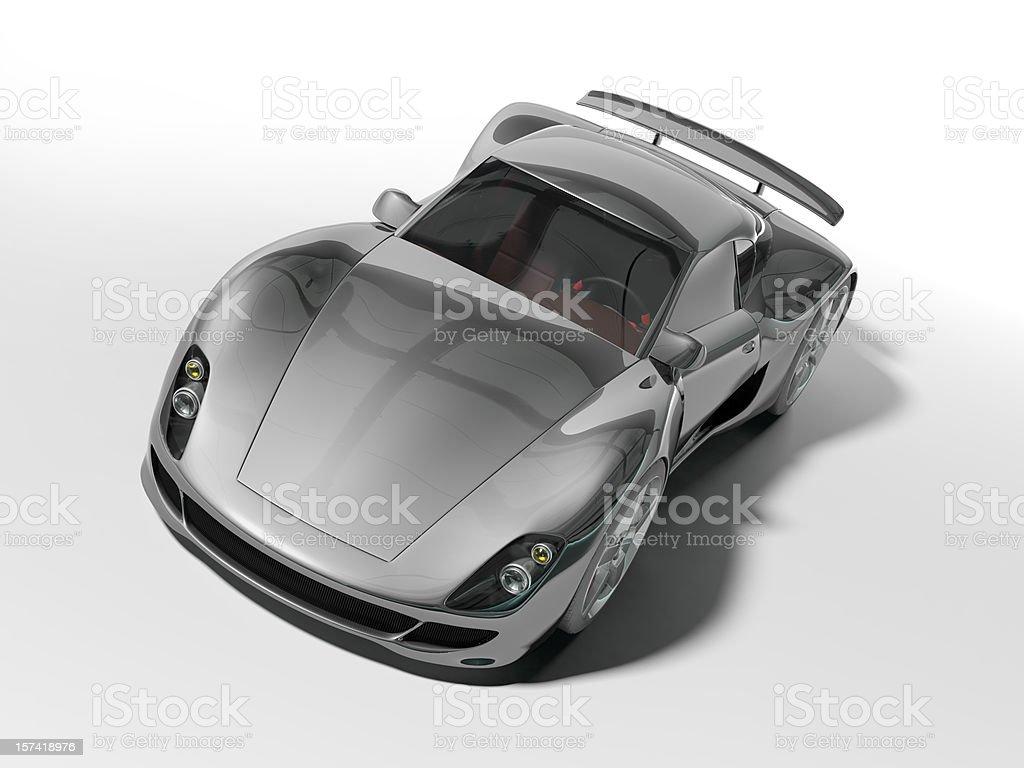 Black Sports Car royalty-free stock photo