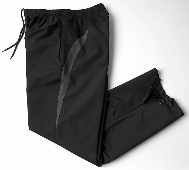 schwarz sport hose, sweathosen - sweatpants stock-fotos und bilder