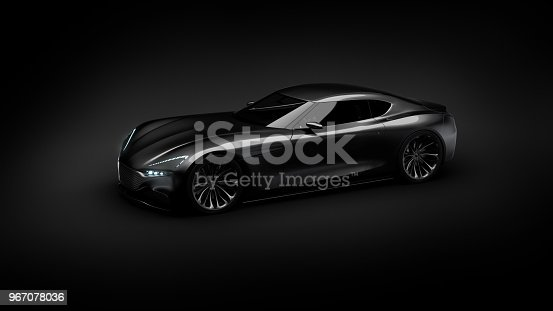 911192004 istock photo black sportscar studio shot 967078036