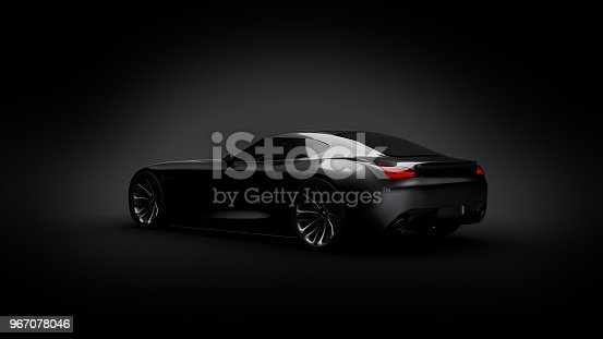 911192004 istock photo black sportscar studio shot 967078046