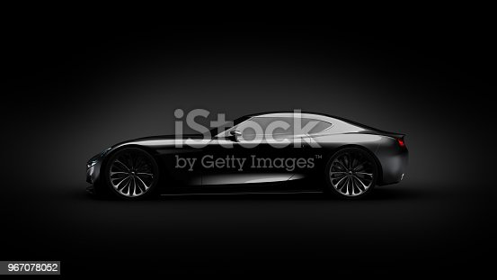 911192004 istock photo black sportscar studio shot 967078052
