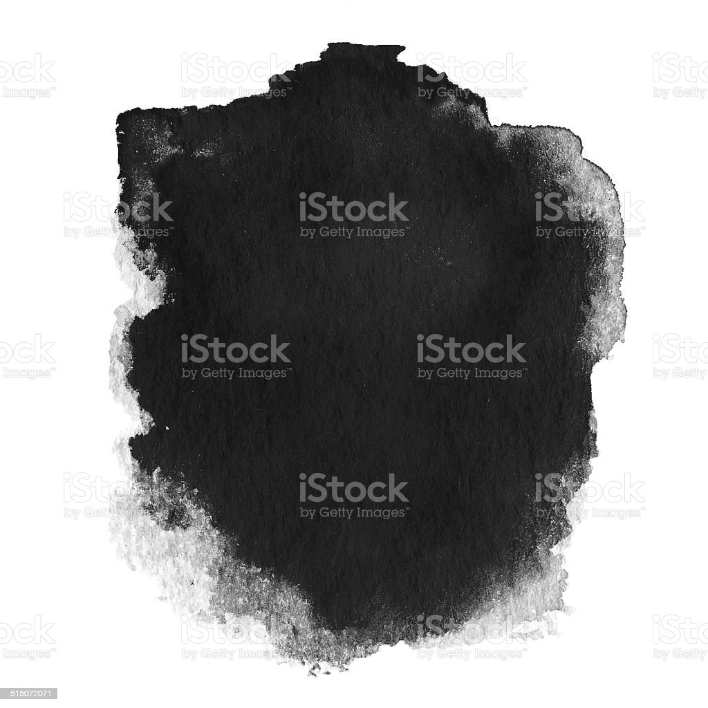 Black  spot, watercolor abstract hand painted textured background stock photo