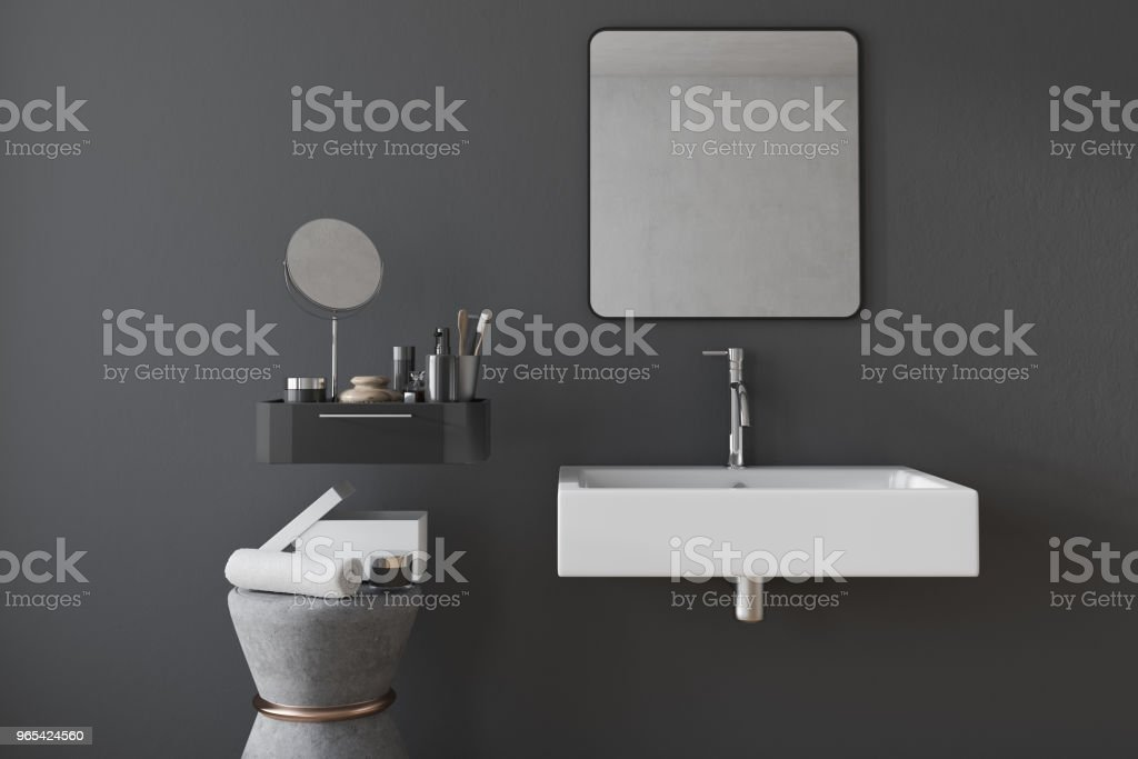 Black square bathroom sink interior royalty-free stock photo