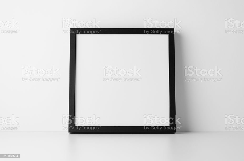 Black Square Frame Mockup Stock Photo & More Pictures of Backgrounds ...